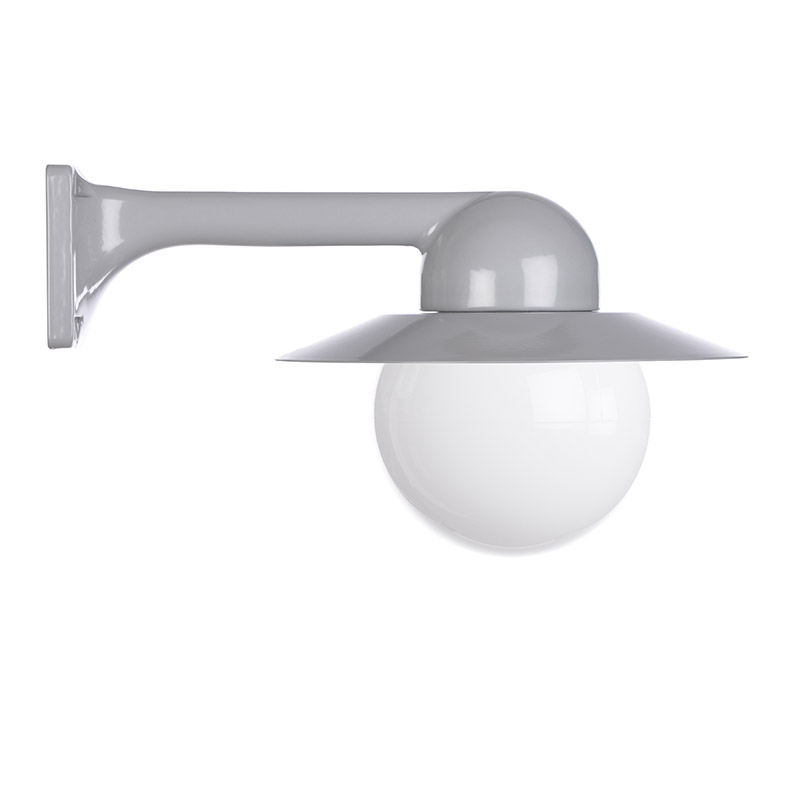 Trim Alu. 90 Grey Globe 150 Col Shade